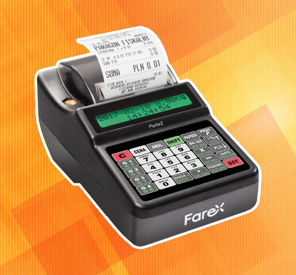 Niedroga kasa fiskalna firmy Farex