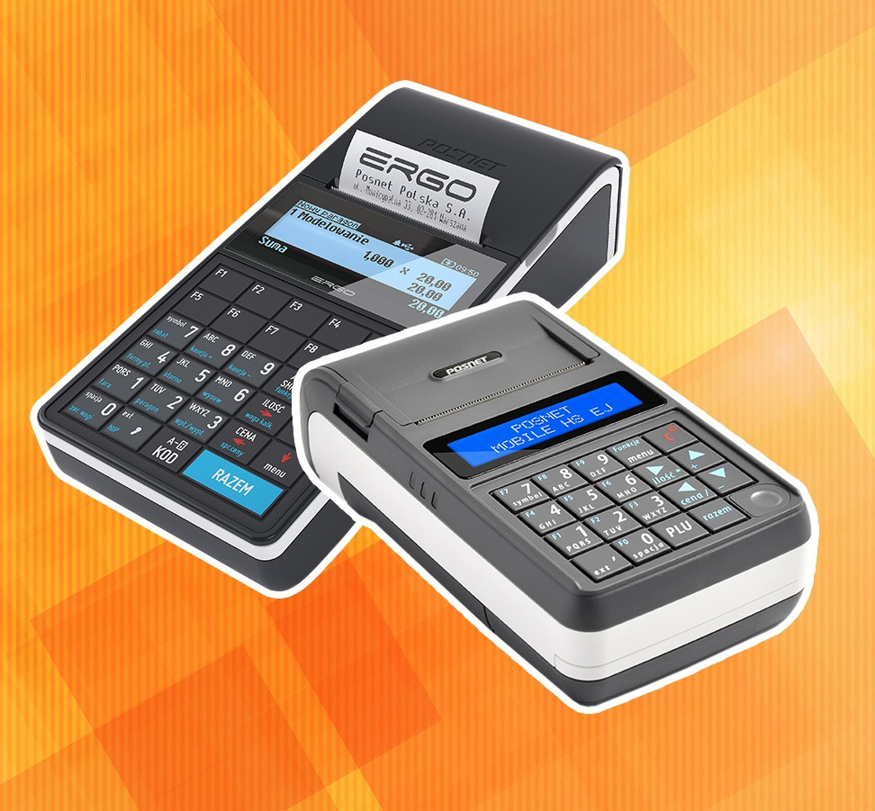 Kasy fiskalne Posnet Ergo i Posnet Mobile HS EJ